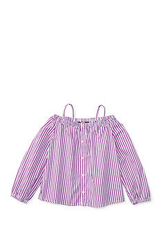 Ralph Lauren Childrenswear Bengal Stripe Top Toddler Girls