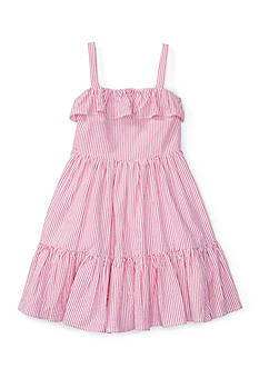 Ralph Lauren Childrenswear Seersucker Woven Dress Toddler Girl