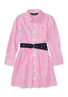 Ralph Lauren Childrenswear Bengal Stripe Shirtdress Toddler Girls