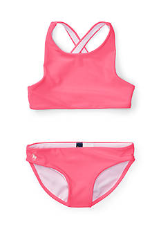 Ralph Lauren Childrenswear Solid Two-Piece Swimsuit Toddler Girls