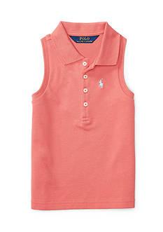 Ralph Lauren Childrenswear Stretch Sleeveless Polo Shirt Toddler Girls
