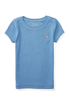 Ralph Lauren Childrenswear Pima Cotton Blend Crewneck Tee Toddler Girls