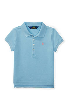 Ralph Lauren Childrenswear Mesh Stretch Short-Sleeve Polo Toddler Girls