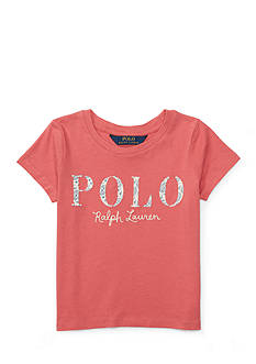 Ralph Lauren Childrenswear Polo Cotton Jersey Graphic Tee Toddler Girls