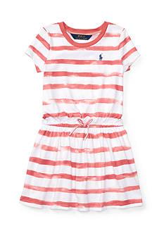 Ralph Lauren Childrenswear Striped Jersey Tee Dress Toddler Girl