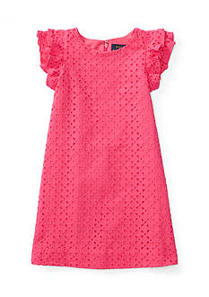 Ralph Lauren Childrenswear Eyelet Dress Toddler Girls