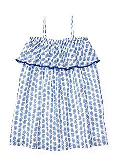 Ralph Lauren Childrenswear Gauze Print Maxi Dress Toddler Girl