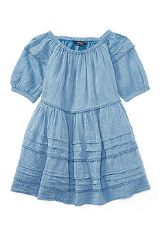 Ralph Lauren Childrenswear Gauze Chambray Dress Toddler Girl
