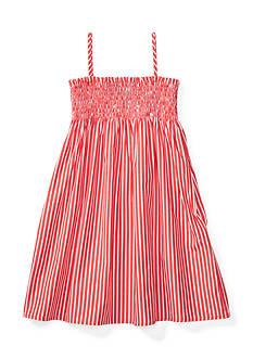 Ralph Lauren Childrenswear Striped Sleeveless Dress Toddler Girls