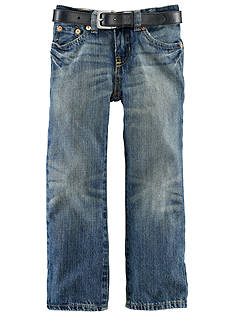 Ralph Lauren Childrenswear Slim Fit Vestry Wash Denim