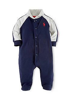 Ralph Lauren Childrenswear Rugby Shawl Collar Coverall
