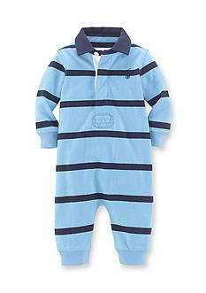 Ralph Lauren Childrenswear Long Sleeve Rugby-Striped Coverall