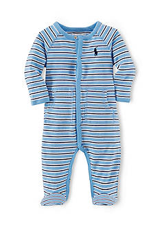 Ralph Lauren Childrenswear Long Sleeve Striped Coverall