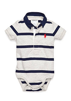 Ralph Lauren Childrenswear Short Sleeve Rugby Bodysuit