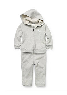 Ralph Lauren Childrenswear Cotton French Terry Active Set Baby Boy