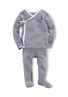 Ralph Lauren Childrenswear 2-Piece Striped Kimono Set