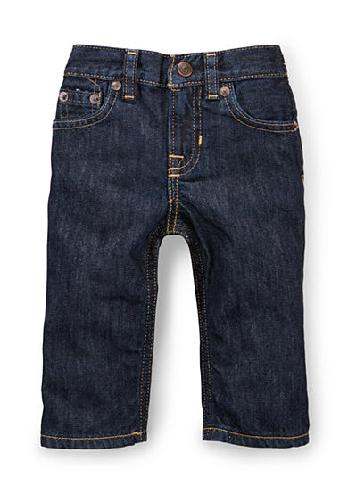 Ralph Lauren Childrenswear Dark Wash Slim Fit Jeans