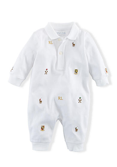 Ralph Lauren Childrenswear Embroidered Cotton Coverall