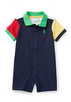 Ralph Lauren Childrenswear Colorblock Polo Shortall