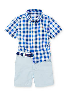 Ralph Lauren Childrenswear 2-Piece Gingham Shirt and Shorts Set