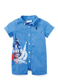 Ralph Lauren Childrenswear One Piece Shortall Baby/Infant Boy