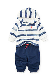 Ralph Lauren Childrenswear Hooded Fleece Baby/Infant Boy