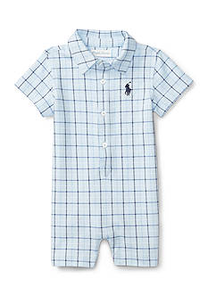 Ralph Lauren Childrenswear Plaid Shortall Baby/Infant Boy