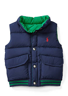 Ralph Lauren Childrenswear Reversible Quilted Down Vest Baby Boys
