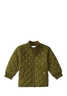 Ralph Lauren Childrenswear Quilted Baseball Jacket Baby Boys
