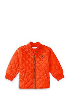 Ralph Lauren Childrenswear Quilted Baseball Jacket Baby Boy