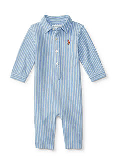 Ralph Lauren Childrenswear Solid Mesh Coveralls Baby/Infant Boy