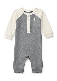 Ralph Lauren Childrenswear Henley Coveralls Baby/Infant Boy