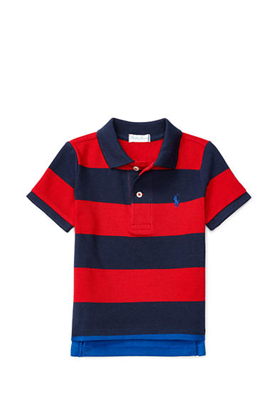 Ralph Lauren Childrenswear Mesh Stripe Polo Top Baby/Infant Boy