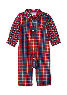 Ralph Lauren Childrenswear Poplin Plaid One Piece Coverall - Baby/Infant Boy