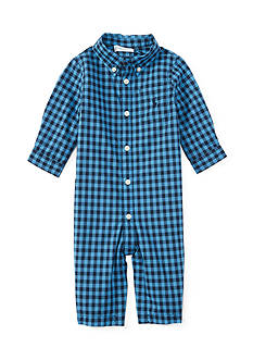 Ralph Lauren Childrenswear Poplin Gingham Coverall One Piece Coverall - Baby/Infant Boy