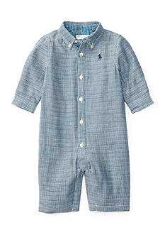 Ralph Lauren Childrenswear Button Down Coverall Baby/Infant Boy