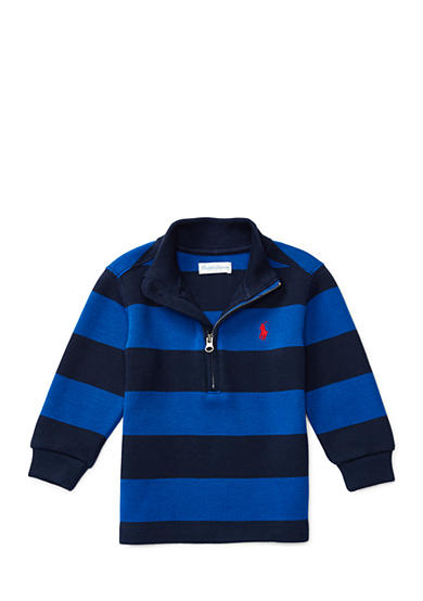 Ralph Lauren Childrenswear French Ribbed Striped Top Baby Boys