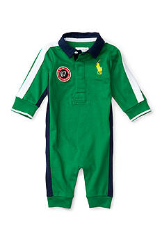 Ralph Lauren Childrenswear Cotton Jersey Rugby Coverall Baby boy
