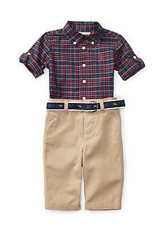 Ralph Lauren Childrenswear Chino Poplin Pant Set Baby/Infant Boy