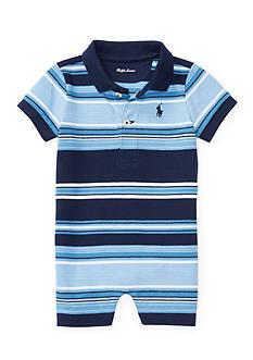 Polo Ralph Lauren Mesh Polo One Piece Shortall Baby Boy