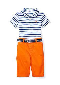 Ralph Lauren Childrenswear Featherweight Mesh Preppy Pantset Baby Boy