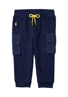 Ralph Lauren Childrenswear Waffle-Knit Cotton Jogger Baby Boy