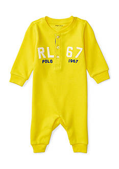 Polo Ralph Lauren Waffle-Waffle One Piece Coverall Baby Boy