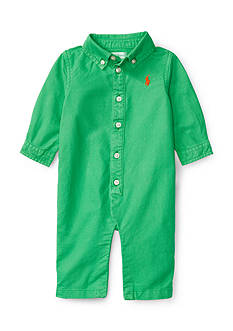 Ralph Lauren Childrenswear Cotton Oxford Coverall Baby Boy