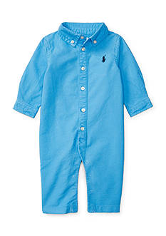 Ralph Lauren Childrenswear Cotton Oxford Coverall Baby Boy