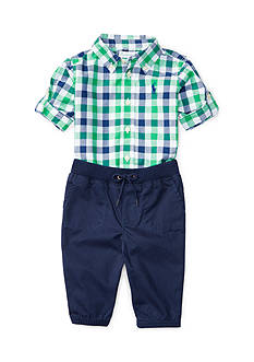 Ralph Lauren Childrenswear Poplin-Chino Pant Set Baby Boy