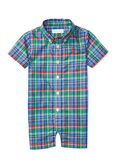 Ralph Lauren Childrenswear Poplin-Kensington One Piece Coverall Baby Boy
