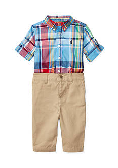 Ralph Lauren Childrenswear Children's Poplin/Chino Plaid Pant Set
