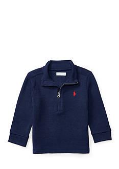 Ralph Lauren Childrenswear French Rib Half Zip Top Baby Boy