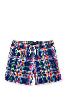 Ralph Lauren Childrenswear Plaid Swim Trunks